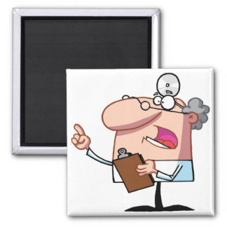 Doctor holding a  clipboard 2 inch square magnet