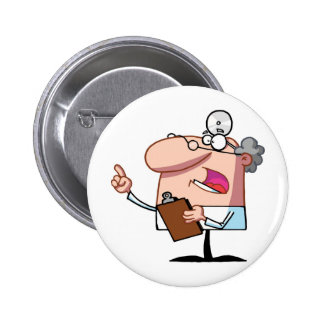 Doctor holding a  clipboard buttons