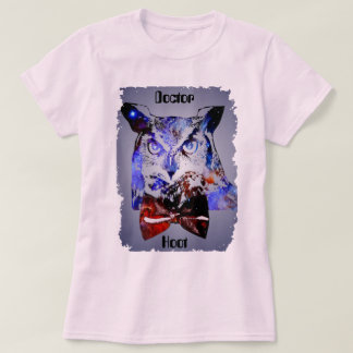 Doctor Hoot   Time Traveling Galaxy Police Owl T-Shirt