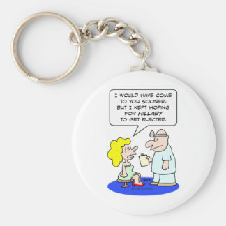 doctor hoping hillary clinton elected key chains