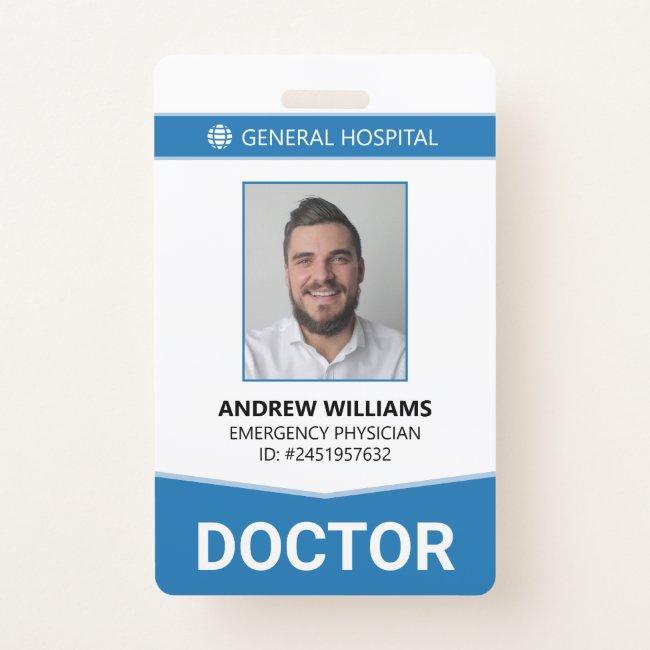 Doctor Hospital Medical Staff ID Badge