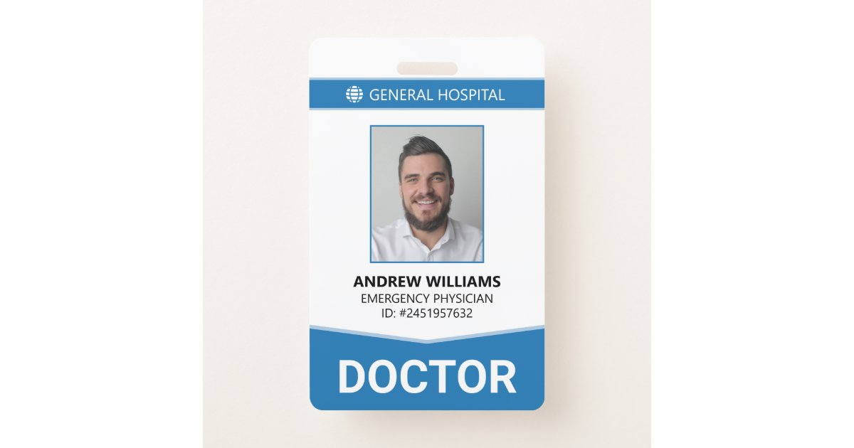 Doctor Hospital Medical Staff Id Badge Zazzle Com