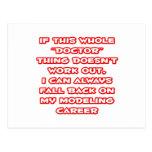 Doctor Humor ... Modeling Career Post Card