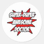 Doctor impresionante estupendo de Duper Pegatina