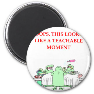 doctor joke 2 inch round magnet