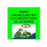 doctor joke postcard
