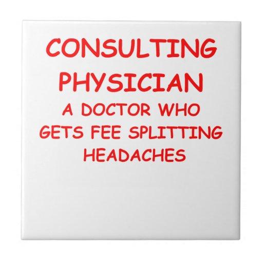 doctor joke small square tile