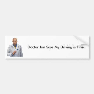 Doctor Jon Bumper Sticker