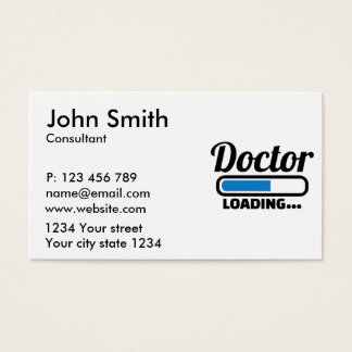 Doctor loading business card