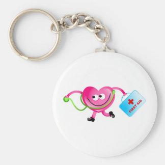 Doctor Love Basic Round Button Keychain