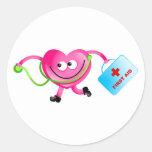 Doctor Love Classic Round Sticker