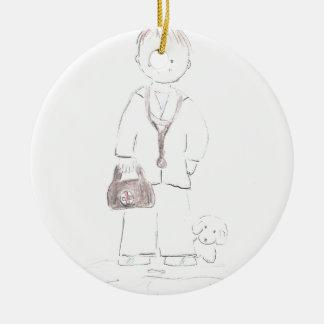 Doctor (Male) Ceramic Ornament