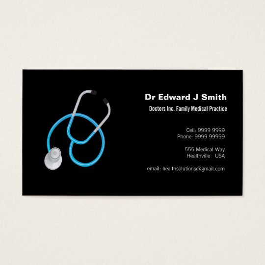 Doctor Md Medical Business Card Design Template  ZazzleCom