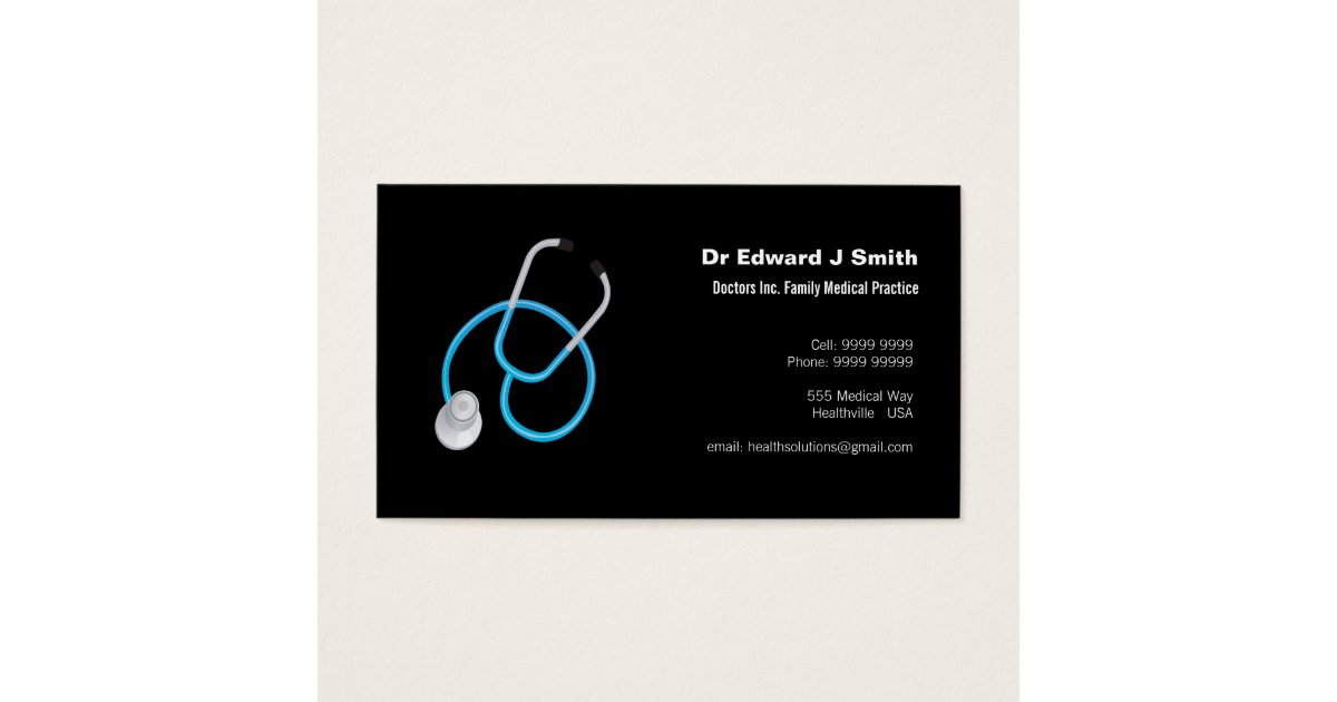 Doctor MD Medical Business Card Design Template | Zazzle.com