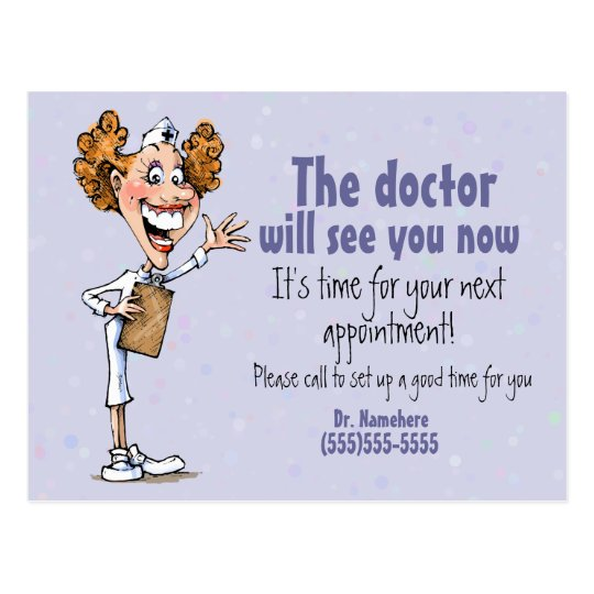 doctor  medical appointment reminder card