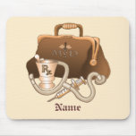 Doctor Medical Bag Custom Name mouse pad