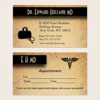 Doctor / Medical with Appointment Area on Back Business Card