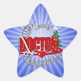DOCTOR MERRY CHRISTMAS STAR STICKER