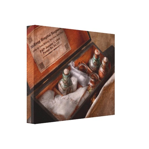 Doctor - mochila del hospital lienzo envuelto para galerías