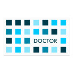 DOCTOR (mod squares) Double-Sided Standard Business Cards (Pack Of 100)