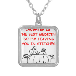 DOCTOR SQUARE PENDANT NECKLACE