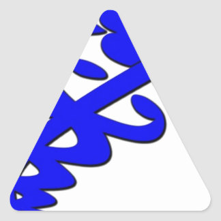 Doctor nurse emt hospital health medic triangle sticker