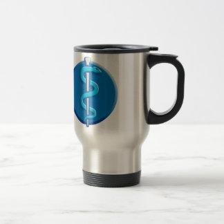 doctor, nurse etc. aesulapian snake 15 oz stainless steel travel mug