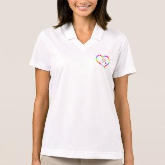 Doctor Nurse Medic EMT Heart Stethoscope Hospital Polo Shirt
