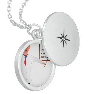 Doctor Nurse Medical Office Medic Destiny'S Round Locket Necklace