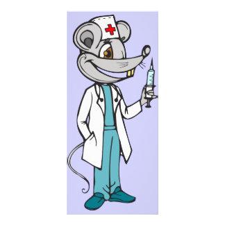 Doctor Nurse Mouse Rack Card