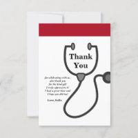 Doctor , Nursing, Medical thank you card