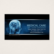 Doctor Of Anatomy Blue Brain Medical Business Card at Zazzle