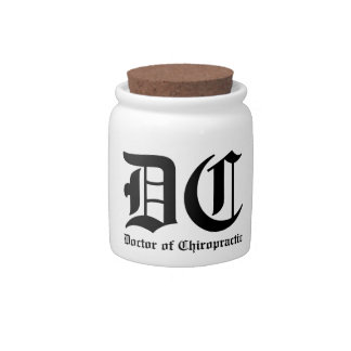 Doctor of Chiropractic Candy Jar