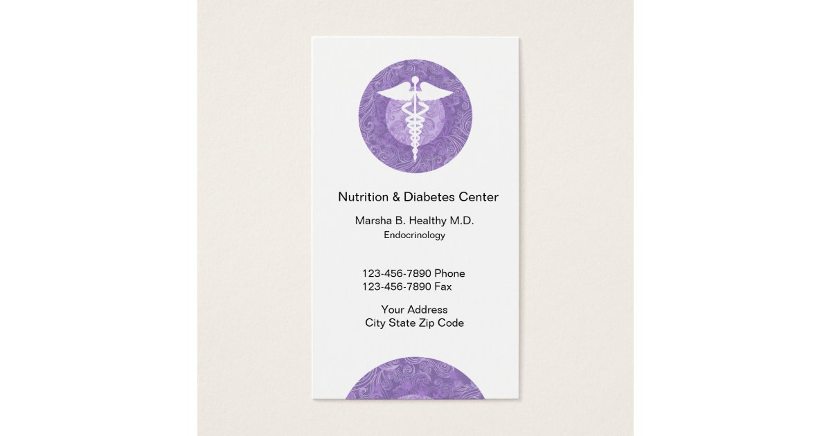 Doctor of endocrinology and nutrition business card zazzle reheart Image collections