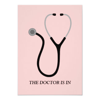 Doctor of Medicine MD Pink Graduation Party Invite