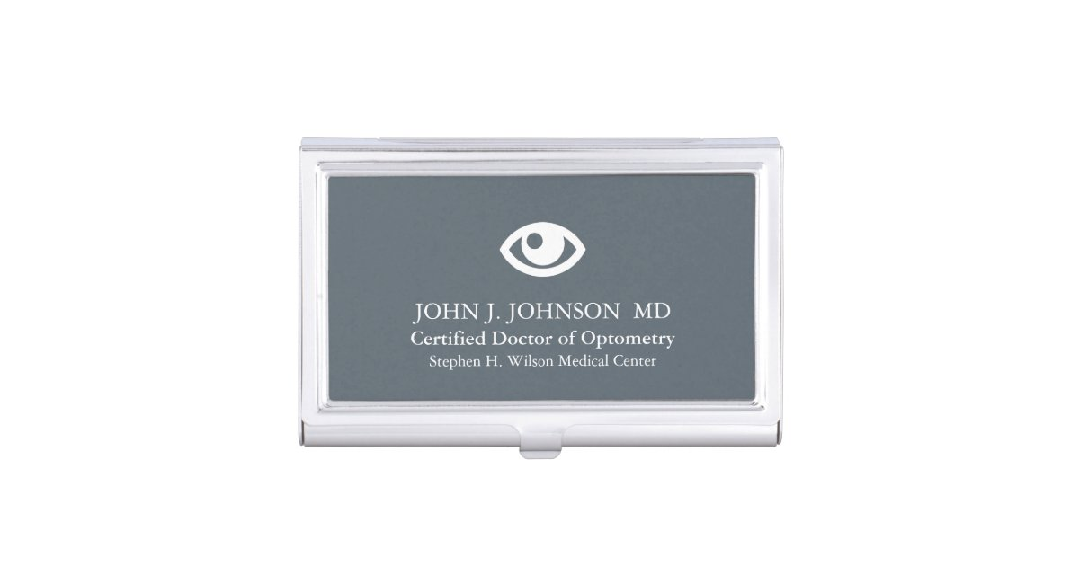 Doctor of Optometry Personalized Business Card Holder | Zazzle.com