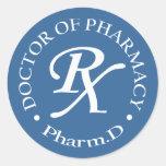 Doctor of Pharmacy Classic Round Sticker
