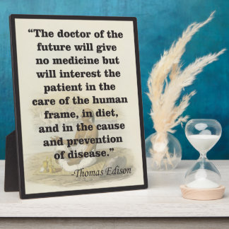 Doctor of the Future Edison Quote Easel Plaque