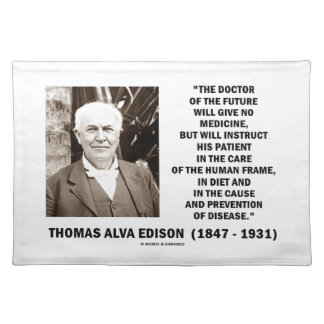 Doctor Of The Future Give No Medicine Prevention Cloth Placemat