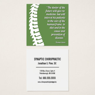 Doctor of the Future Quote Spine Logo Chiropractor Square Business Card