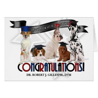 Doctor of Veterinary Medicine Graduate Custom Dogs Card