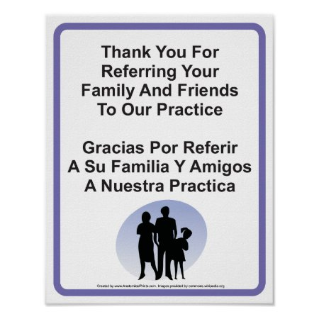 Doctor Office Patient Referral Wall Sign Poster