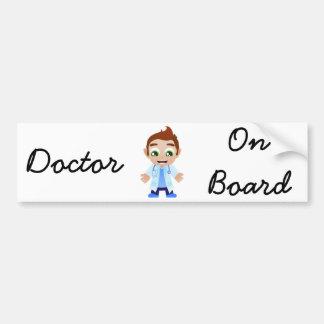 Doctor on Board Bumper Sticker