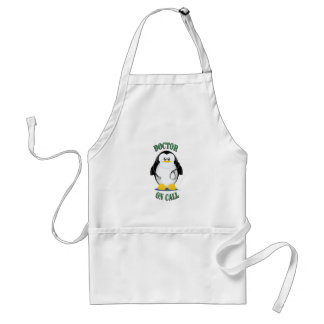 Doctor on Call Penguin Adult Apron