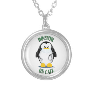 Doctor on Call Penguin Personalized Necklace