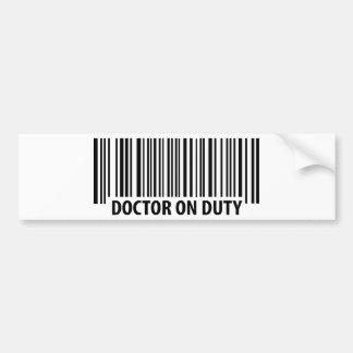 doctor on duty icon bumper sticker