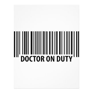 doctor on duty icon flyer design