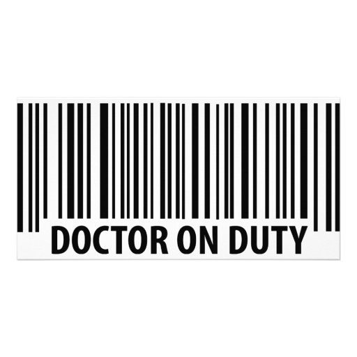 doctor on duty icon photo card