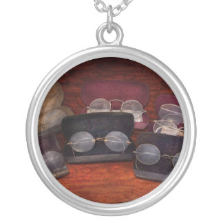 Doctor - Optometrist - Array of Opticals Round Pendant Necklace