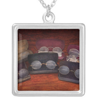 Doctor - Optometrist - Array of Opticals Square Pendant Necklace
